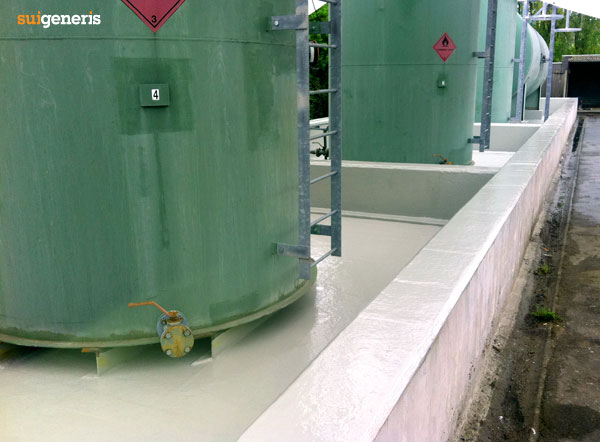 Grp Lining Of Tank Bunds Gullies Sumps And Pits Sui