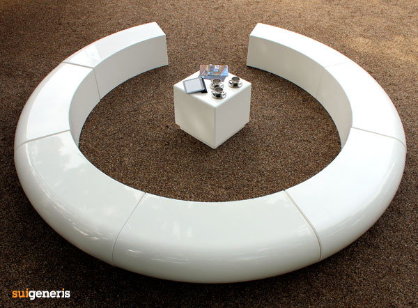 circular furniture. corona circular urban street and garden landscape furniture n