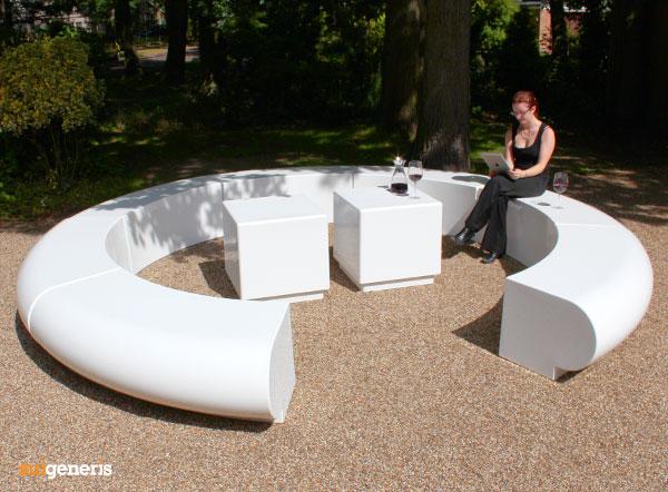 Corona Modular Circular Seating Modern GRP Fibreglass