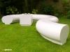 Halo garden public exhibition landscape seating