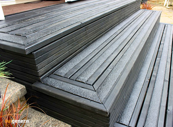 Getting busy in the garden? A safety tip for slippery decking…