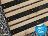 Anti slip decking strips black.