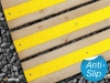 Anti-slip decking strips yellow high visibility.
