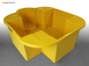 Sui Generis single IBC sump pallet spill containment in yellow