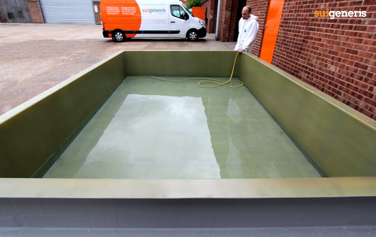 Custom made GRP fibreglass spill containment bund