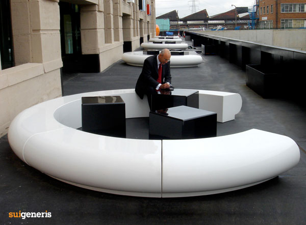 Corona urban and garden landscape seating. Corona Modular Circular Seating   Modern GRP Fibreglass Furniture