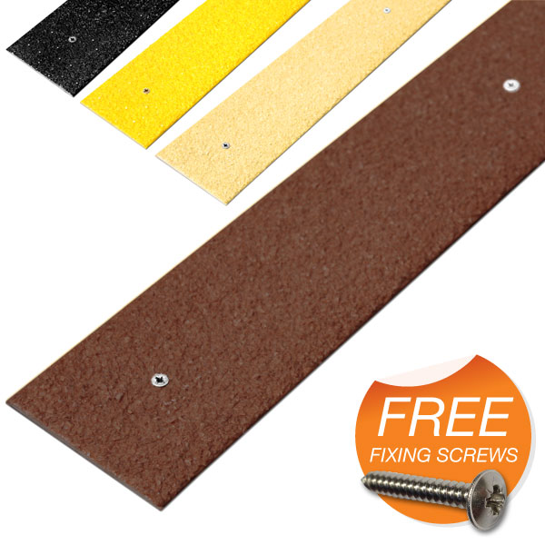 Anti-Slip Decking Strips now in 4 colours, with FREE screws