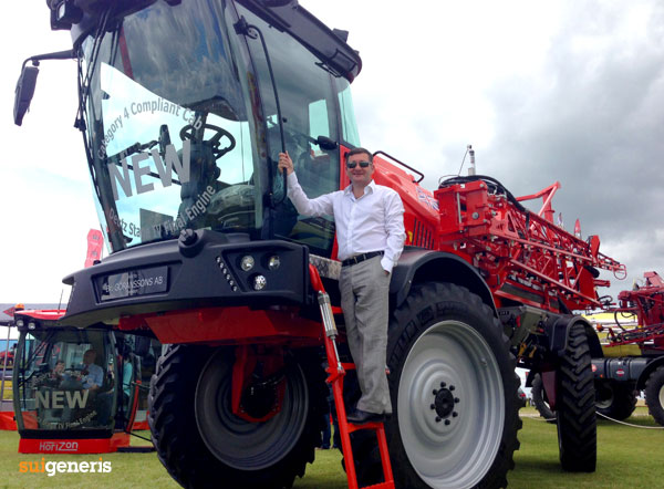 Sui Generis MD Mark Went with Sands new Horizon Crop Sprayer