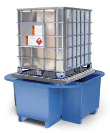 SG101-FL IBC Bund, Spill Pallet with Removable Platform & Forklift Facility