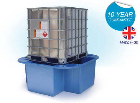 SG101 IBC Bund, Spill Pallet for spill containment of oils, chemicals, liquids.