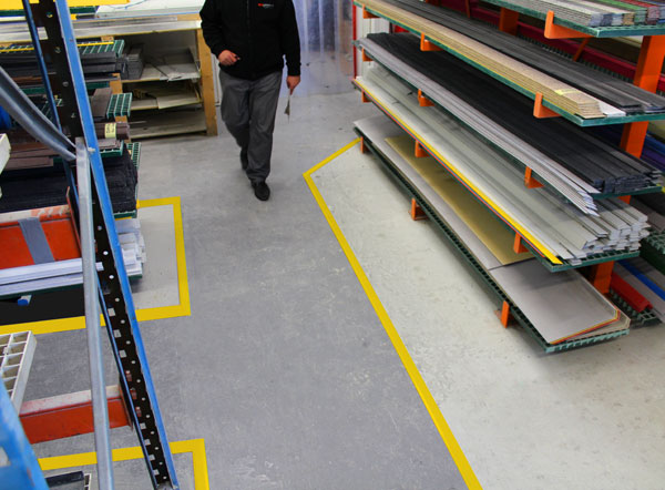SolidLine Aisle and Floor Marking is the permanent replacement for floor or aisle marking tape
