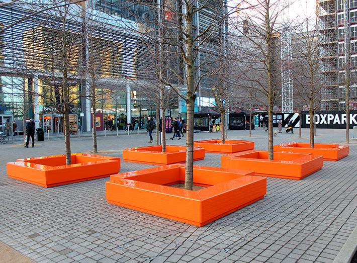 Bench Modular Seating at Wembley Park.