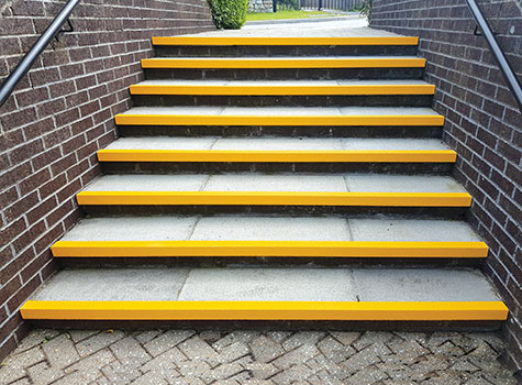 5. Stair Nosing bright colours highlight the step edge for DDA compliance.