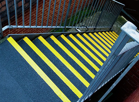 1. Anti-Slip Stair Treads for stairs and stair landings.