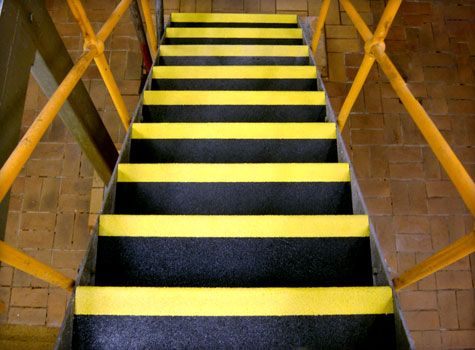 4. Food preparation area steps with Anti-Slip stair tread covers.