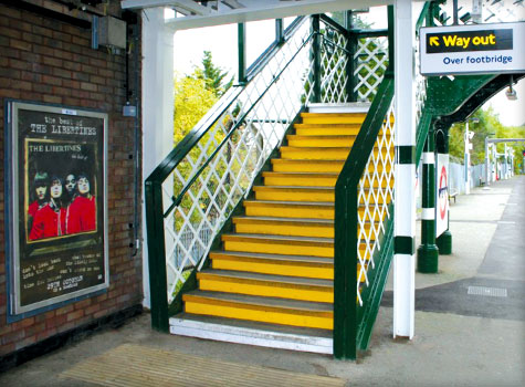 5. Refurbishment of stairs at Debden Station, with Anti-Slip stair treads.