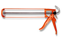 Trade quality, adhesive gun for use with sealant and adhesive cartridges.