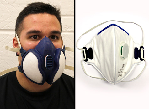 3. Health & Safety PPE - face mask respirators, protection workwear.