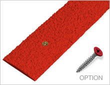 Decking Strips - Red RAL 3001