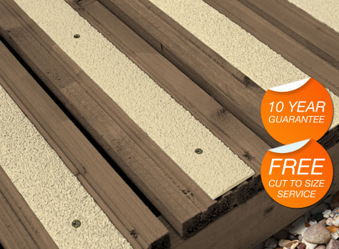 9. Preformed in GRP: tough and durable, with a gritted non-slip surface.