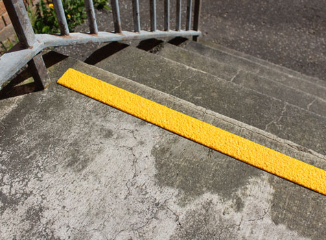 Anti Slip Step Strips   Fit To The Top Of The Stairway.