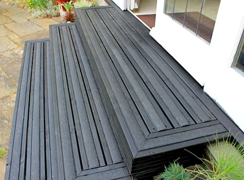 Anti slip decking strip non slip deck strips step strips for Non slip composite decking