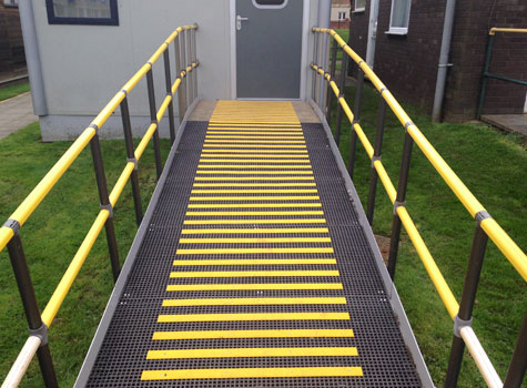 3. School walkways and ramps made safe with decking strips.