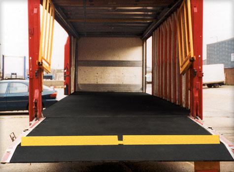 7. Anti-Slip Floor Sheets vehicle flooring installation.