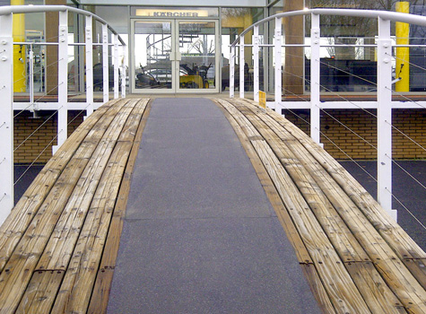 5. Anti-Slip Floor Sheets footbridge and path for trade centre and shopping areas.