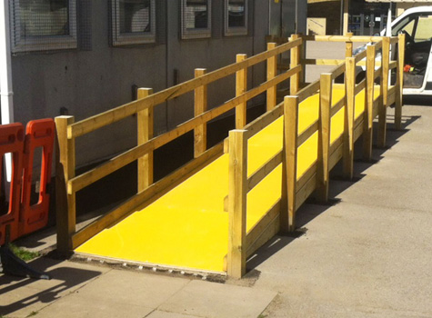 6. Anti-Slip Floor Sheets ideal for access ramps, door gangways health and safety.