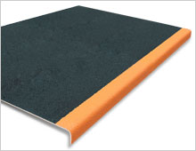 Extra Deep Stair Tread Cover Black with Orange Nosing