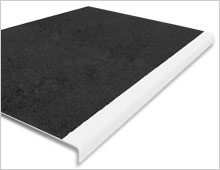 Extra Deep Stair Tread Cover - Black & White