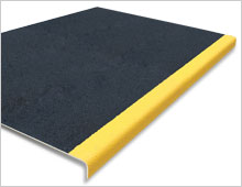 Extra Deep Stair Tread Cover - Black & Yellow