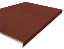 Extra Deep Stair Tread Cover - Brown RAL 8028