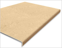 Extra Deep Stair Tread Cover - Buff RAL 1001