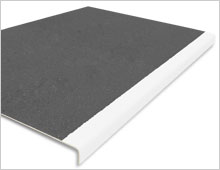 Extra Deep Stair Tread Cover - Dark Grey & White