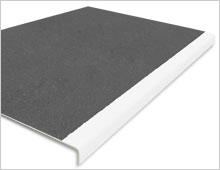 Extra Deep Stair Tread Cover - Dark Grey & White