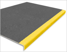 Extra Deep Stair Tread Cover - Dark Grey & Yellow