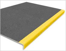 Extra Deep Stair Tread Cover - Dark Grey & Yellow