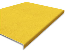 Extra Deep Stair Tread Cover - Yellow RAL 1003