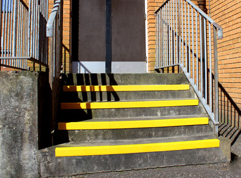 2. Anti-Slip Stair Nosings - designed to fit to the front of the step.