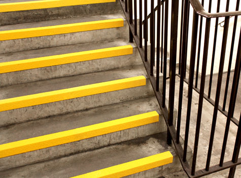4. Anti-Slip Stair Nosings - rated extremely low potential for slip.