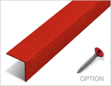 Stair Nosing - Red RAL 3001
