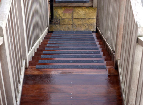 7. A durable anti-slip solution for high traffic steps.