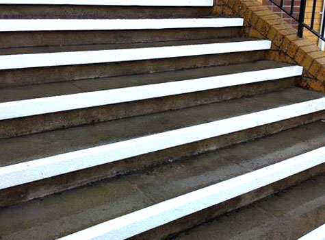 10. Stair Nosings offer both a colour differentiation and an anti-slip solution.