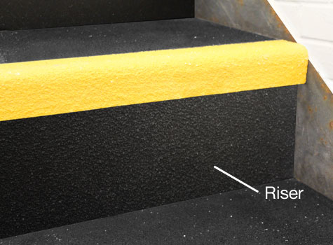 3. Stair Riser Plates - gritted finish.