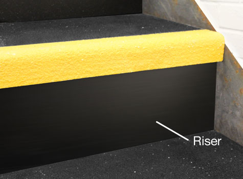 2. Stair Riser Plates - smooth finish.