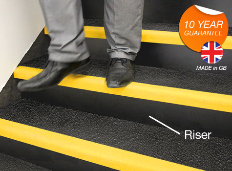 1. Stair Riser Plates - designed to fit to the front of the step.
