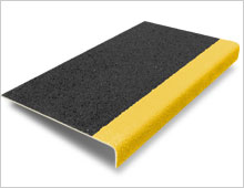 Stair Tread Cover - Black & Yellow