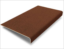Stair Tread Cover - Brown RAL 8028